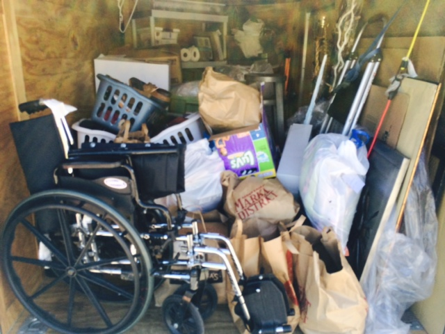 Jodi & I loaded the trailer this afternoon at UALC with school supplies, shoes, toys and a wheelchair.  I received a phone call from Saundra, the Caldwell, Ohio HARP Coordinator who today had a gentleman in desperate need of a wheelchair!  We feel so very blessed to serve others!